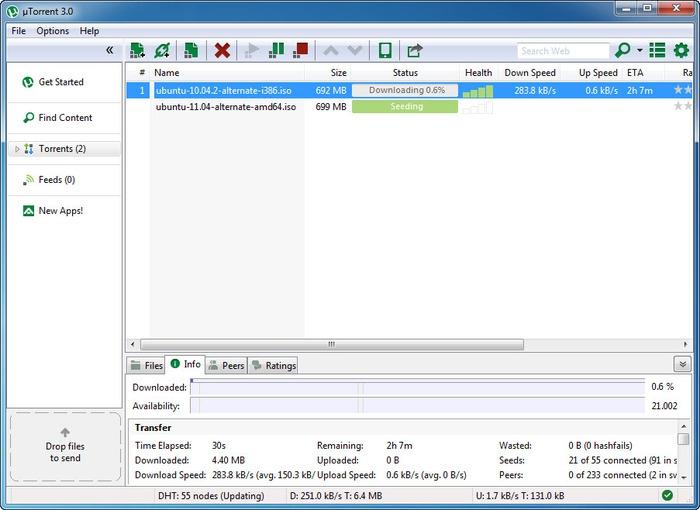 نحوهی افزایش سرعت دانلود فایل از µTorrent