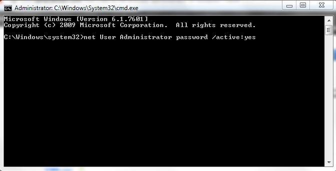 فعالنمودن حساب کاربری Administrator در ویندوز 7