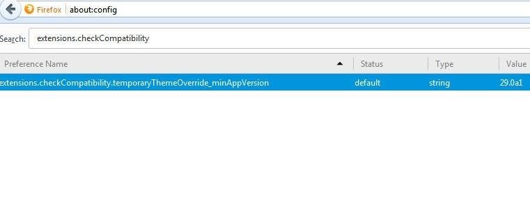 استفاده از افزونههای قدیمی بر روی فایرفاکس