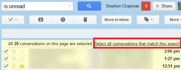 نشانهگذاری کلیه ایمیلهای خواندهنشده با عنوان «خواندهشده » در Gmail