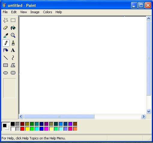 Crop کردن تصویر در Paint ویندوز XP