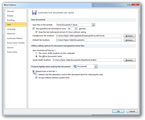 حفظ ثبات فونتها در نرمافزارهای آفیس به هنگام نمایش بر روی سیستمهای مختلف