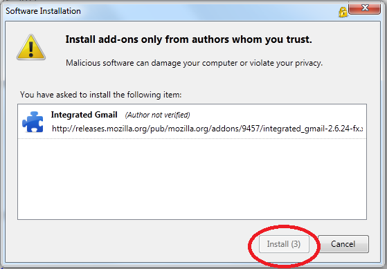 غیرفعال کردن زمانشمار نصب افزونه در مرورگر Firefox