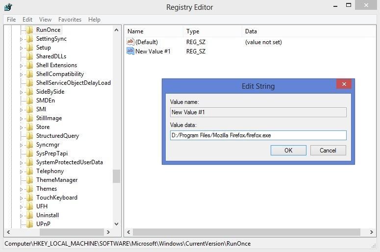 اجرای اتوماتیک برنامه  یکبار و فقط یکبار!