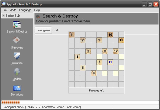 بازی مخفی در نرمافزار Spybot