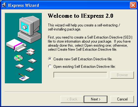 ساخت Setup به وسیله ویندوز و بدون نیاز به برنامه جانبی