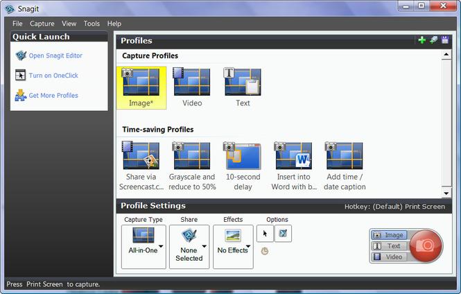 ذخیرهی بهتر عکس در نرمافزار SnagIt