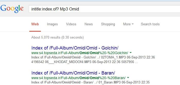 دانلود آهنگهای مختلف به شکل رایگان از گوگل