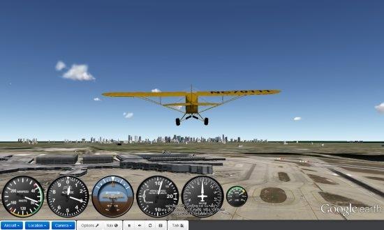 تجربهی پرواز با هواپیما بر فراز زمین در Google Earth 4