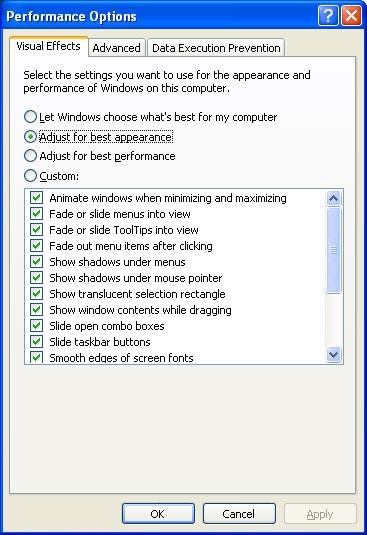 بالا بردن سرعت پردازش اطلاعات در ویندوز با غیرفعال نمودن جلوههای بصری