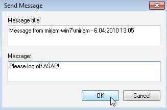 ارسال پیام به دیگر حسابهای کاربری در ویندوز