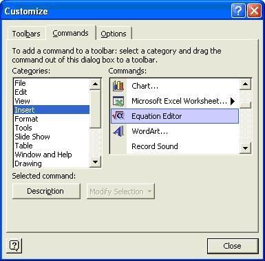 نوشتن فرمولهای پیچیدهی ریاضی در نرمافزار Microsoft Word 2003
