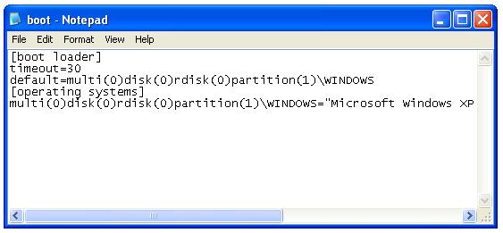 ایجاد تغییرات در منوی انتخاب ویندوزها به وسیلهی ویندوز XP