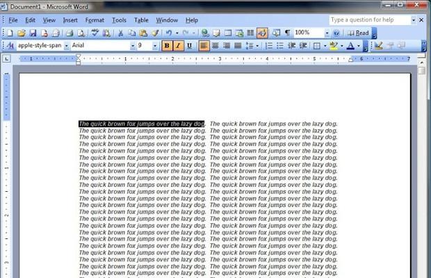 یک ترفند بامزه در نرمافزار Microsoft Word 2003