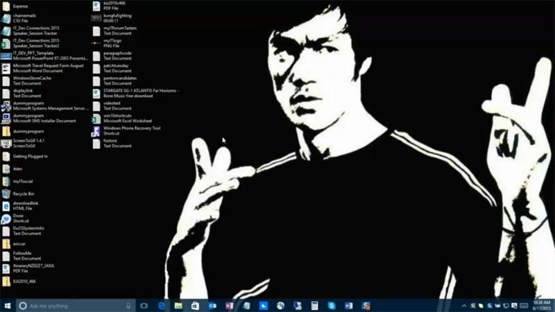 تبدیل حالت نمایش صفحهی دسکتاپ ویندوز 10 به یک پوشهی استاندارد