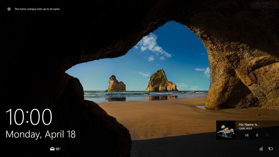 ذخیره تصاویر صفحه Lock در ویندوز 10