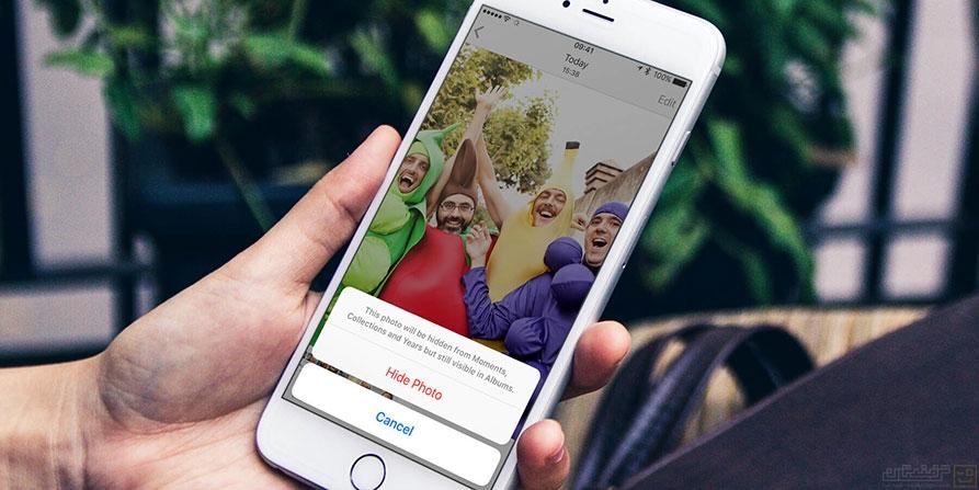 مخفی کردن تصاویر در iOS 10